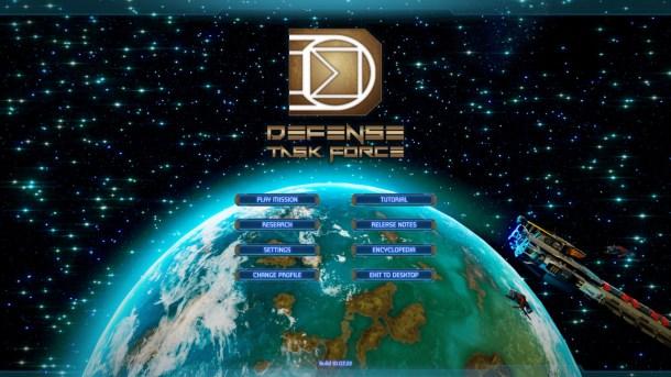 Defense Task Force | Main Menu
