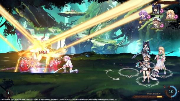 Super Neptunia RPG   Battle