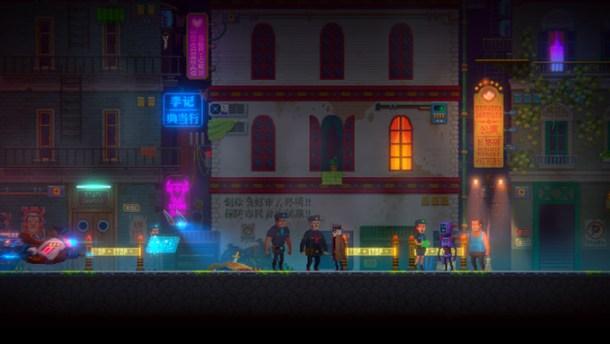 Tales of the Neon Sea | crime scene