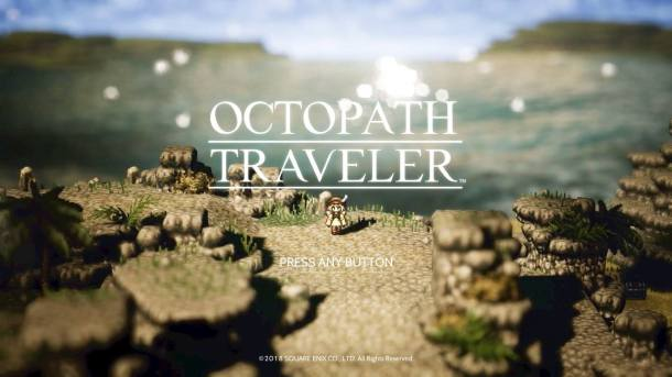 Octopath Traveler Title Screen