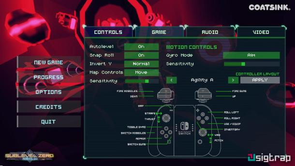 Sublevel Zero Redux | Controls