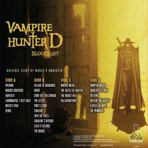 Vampire Hunter D vinyl back