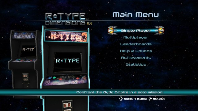 R-Type Dimensions EX | Main Menu