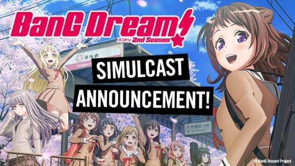 BanG Dream! 2nd Season | HIDIVE Simulcast Announcement