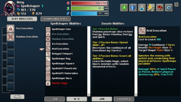 Tangledeep | Spellshaper Ability Menu