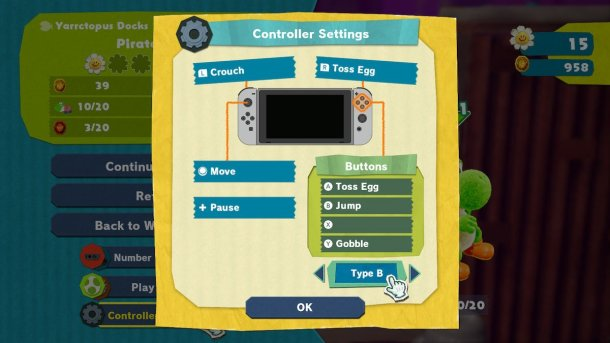 Yoshi's Crafted World | Controls