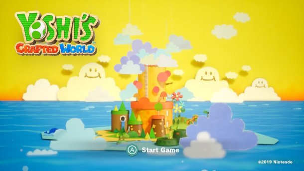 Yoshi's Crafted World | Title Screen