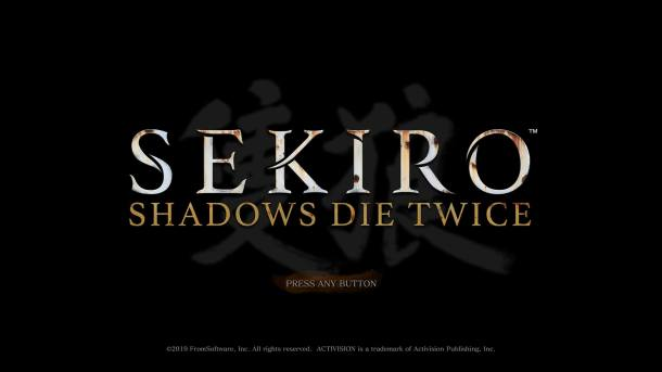 Sekiro Title Screen