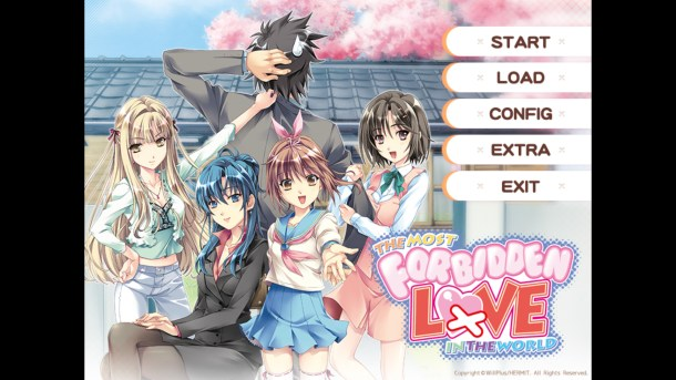 Forbidden Love Title Screen