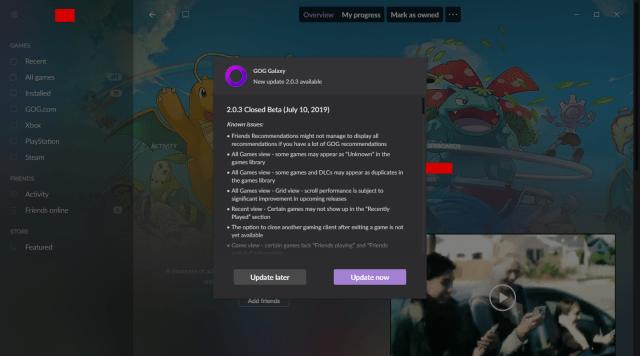 GOG   Galaxy 2.0 Closed Beta