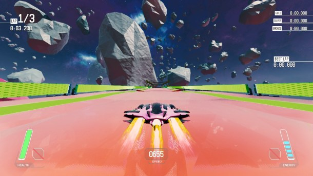 Redout | Track and asteroids