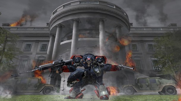 Metal Wolf Chaos | Burning White House