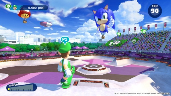 Mario & Sonic | Luigi getting ready to compete