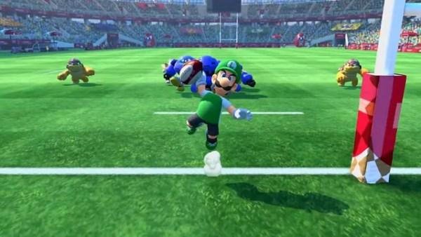 Mario & Sonic Olympic Games | Luigi scores a touchdown