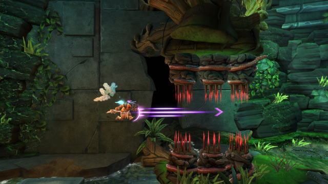 Jet Kave Adventure   Charge through Spike Trap