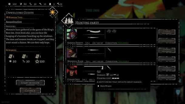 Alder's Blood | Party select