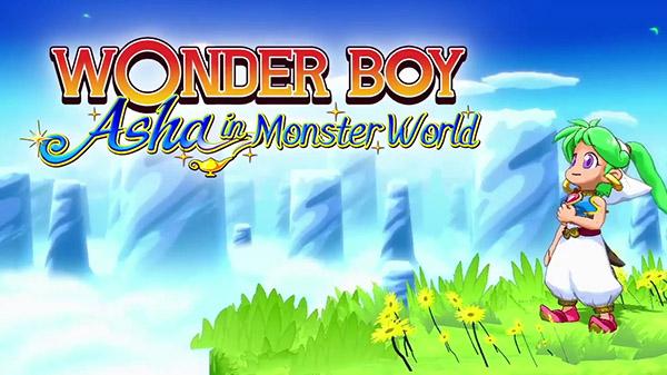 Wonder Boy Asha in Monster World | title