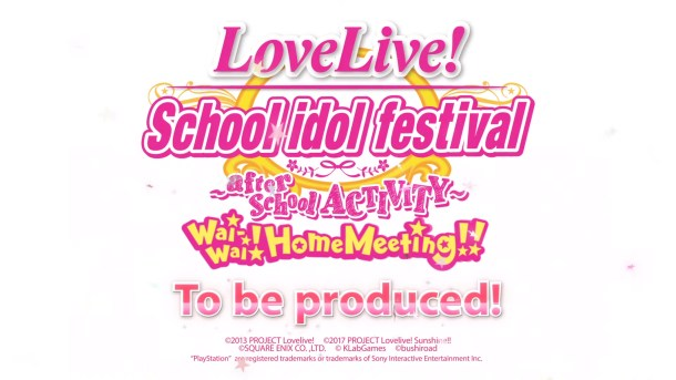 Love Live! SIF AC ~ Wai-Wai!Home Meeting!! | PS4 Announcement