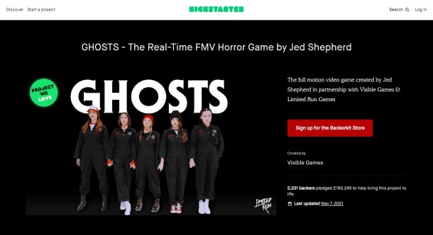 GHOSTS | Kickstarter