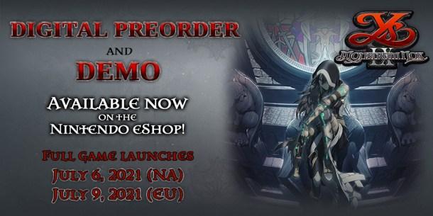 Ys IX: Monstrum Nox | Demo and Digital Pre-order