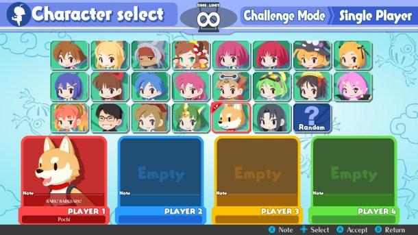 Umihara Kawase BaZooKa! | Character select