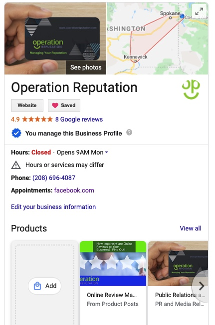 Operation Reputation Google My Business GMB Management