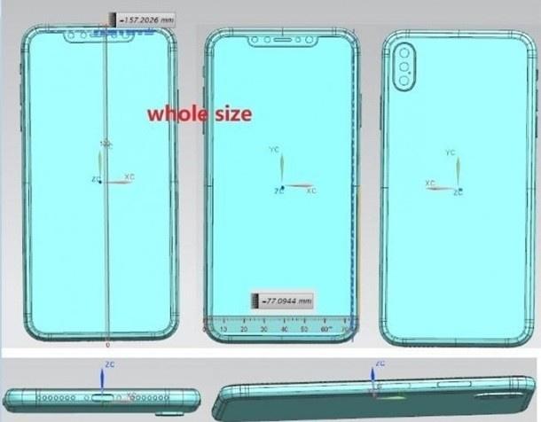 Чертежи новых iPhone