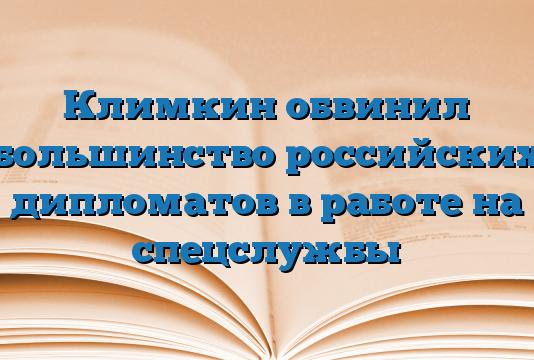 Климкин обвинил большинство российских дипломатов в работе на спецслужбы