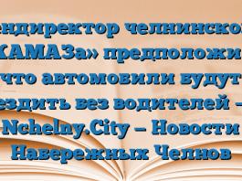 Гендиректор челнинского «КАМАЗа» предположил, что автомобили будут ездить без водителей — Nchelny.City — Новости Набережных Челнов