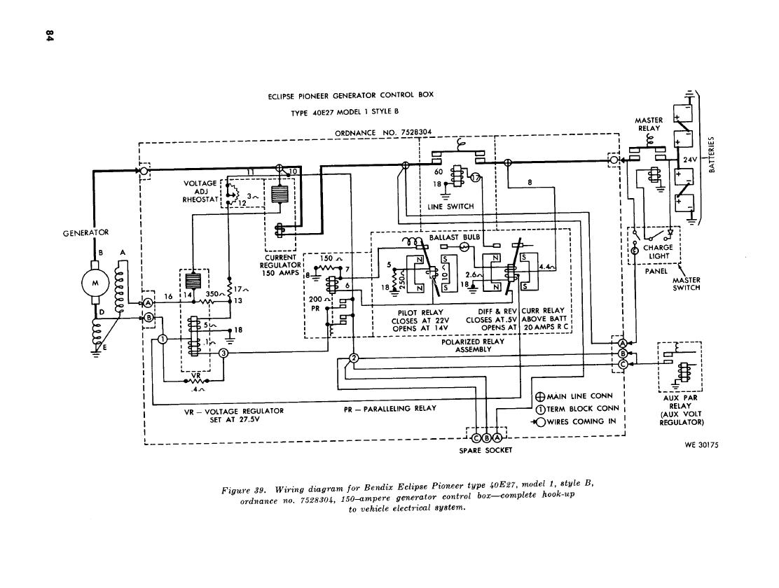 Figure 39 Wiring Diagram For Bendix Exclipse Pioneer Type 40e27 Model 1 Style B