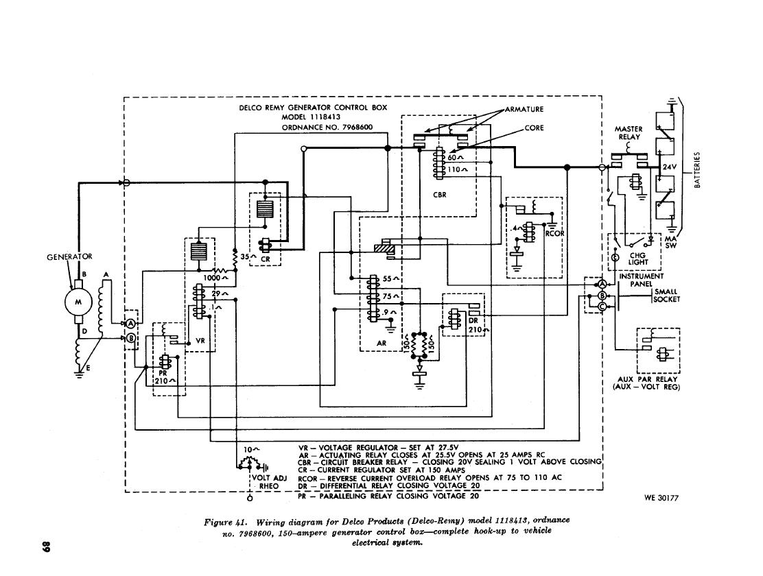 Figure 41 Wiring Diagram For Delco Products Delco Remy Model