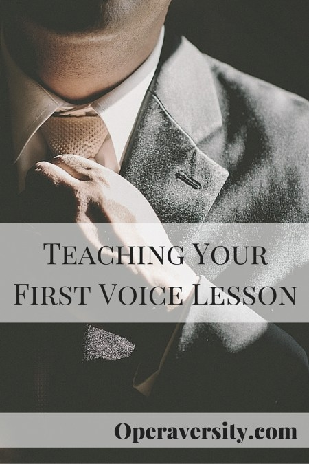 Teaching Your First Voice Lesson