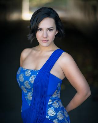 opera mezzo daniela mack in blue dress
