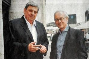 Die Vorsitzenden der Opernfreunde: Heinrich Kemper (li) und Norbert Pabelick; Foto: Rake/ARD