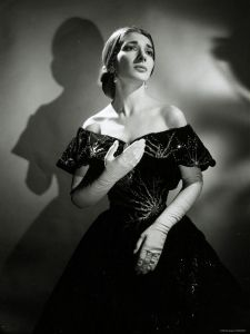 Publicity photo of Maria Callas(December 2, 1923 – September 16, 1977) as Violetta in La Traviata by Houston Rogers