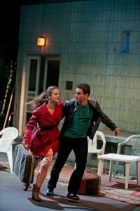 Eleonore Marguerre (Konstanze), Lucian Krasznec (Belmonte)©Björn Hickmann / Stage Picture
