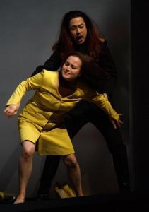 Alfia Kamalova als Adalgisa und Hongjae Lim als Pollione