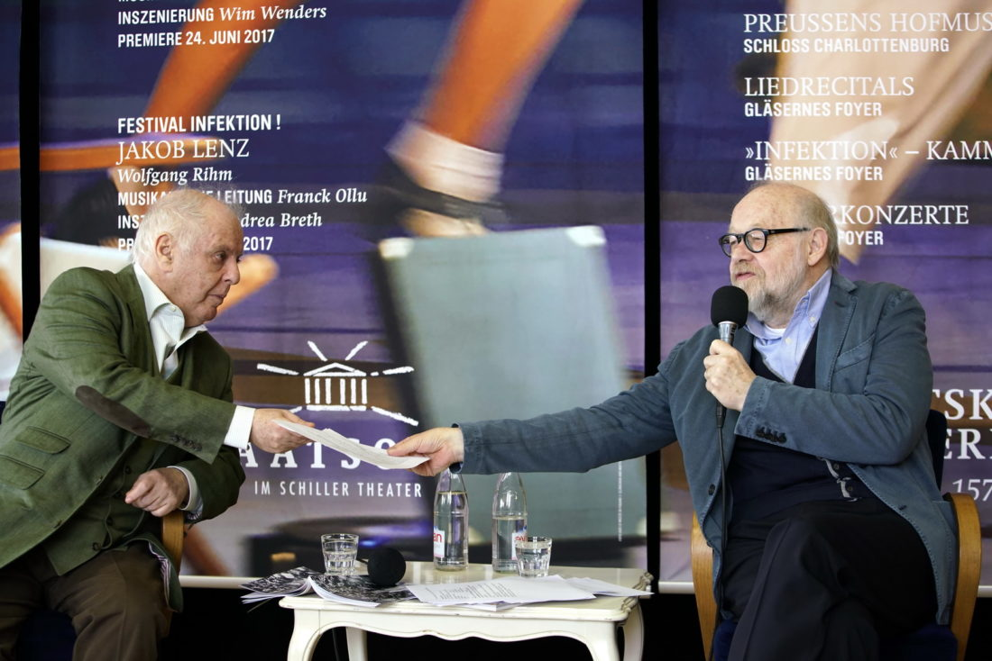 Daniel Barenboim, Jürgen Flimm, /Programmvorstellung 2016/HONORARFREI @ Staatsoper Berlin