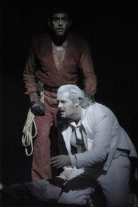 Loge in Rheingold , Wolfgang Koch als Wotan, Dortmund 2005, Foto ,© Thomas M.Jauk/Stage Picture