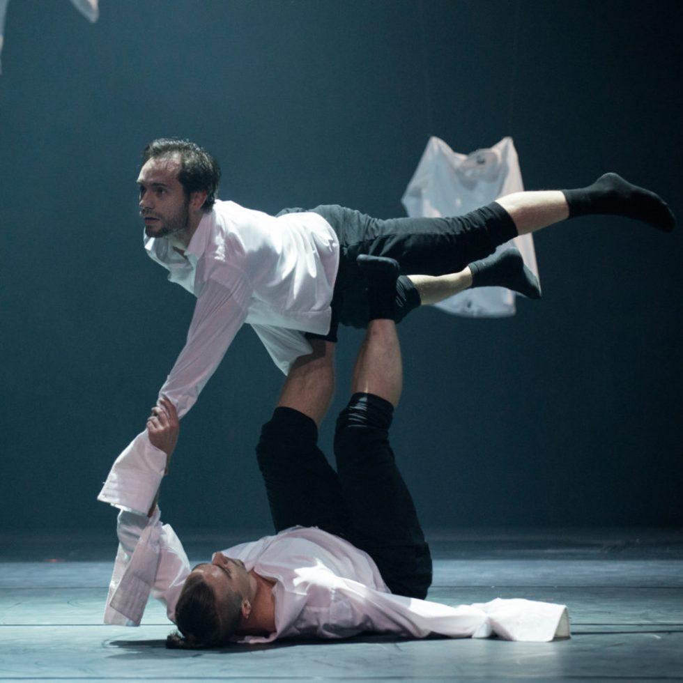 "Szenenfoto aus ""Passacaglia"" (Choreografie von Denis Untila & Michelle Yamamoto, präsentiert bei ""PTAH III"" 2014) (Foto: Mario Perricone)"