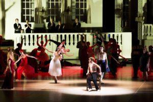 Silvia Azzoni, Xue Lin, Aleix Martinez, Patricia Friza, Ensemble/ Nijinski Ballett/ Ballett Hamburg/ Foto @ Kiran West