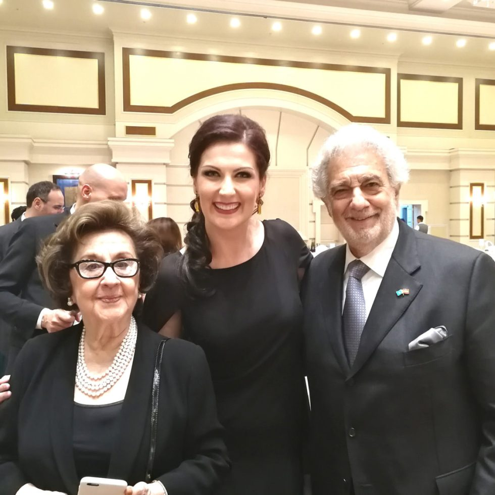 Martha Domingo/Adela Zaharia/Placido Domingo / Foto-privat