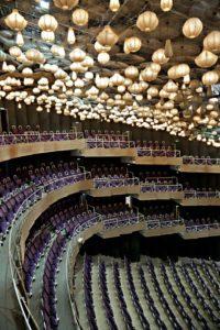 Theater Münster/ Innenansicht des Großen Hauses mit dem einzigartigen Lampenhimmel © Jochen Quast