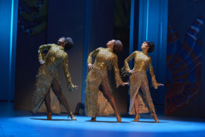 Anneka Dacres (Pearl), Denise Lucia Aquino (Peaches), Taryn Anne Nelson (Cindy Watkins) © Stage Pictures