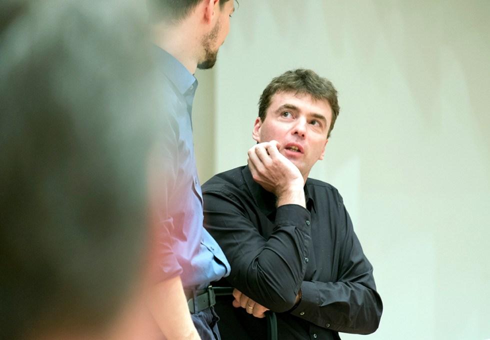 GMD Feltz beim Dirigentenforum 2014 / Foto @ Clara Höfs