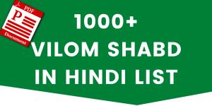 hindi vilom shabd list