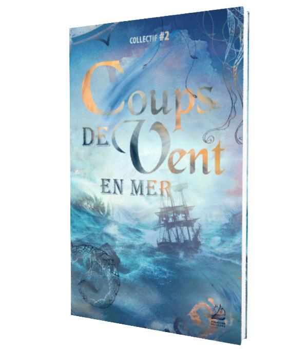 """Couverture du recueil de nouvelles """"Coups de vent en mer"""""""
