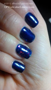 OPI Gel - russian Navy with Polka (1)