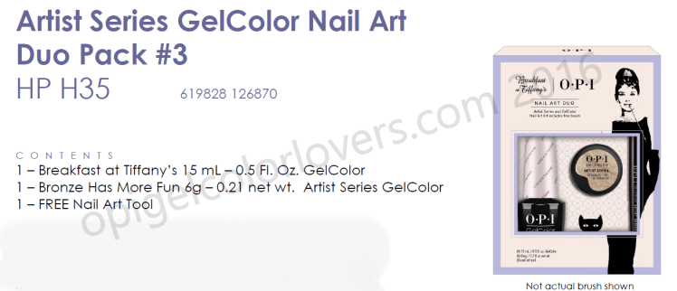 Artist Series Gelcolor nail art duo pack #3