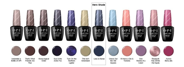 Opi Gelcolor Lovers New Collection Announcement Iceland Fall 2017